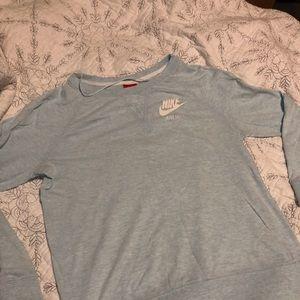 Nike baby blue long sleeved T-shirt